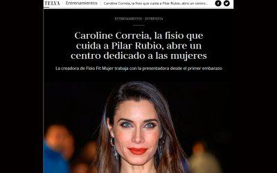 FisioFit Mujer en Telva. Pilar Rubio