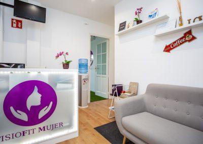 Recepcion Clinica FisioFit Mujer Madrid